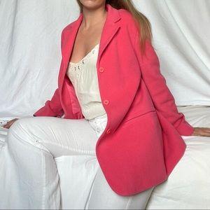 Vintage bubblegum pink blazer-style pea coat